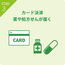 step03 カード決済 薬や処方せんが届く